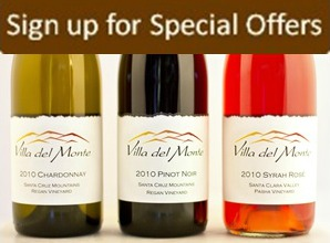 Villa del Monte Special Offer Sign Up