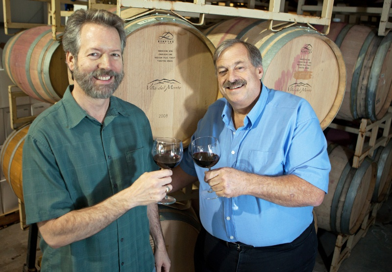 Villa del Monte winemakers John and Neil