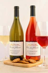 Two bottles of Villa del Monte wine