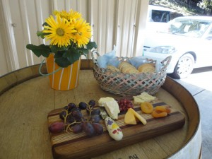 Snacks at Villa del Monte Winery