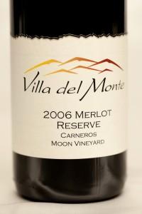 Villa del Monte Winery Merlot Carneros