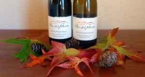 wine and fall leaves
