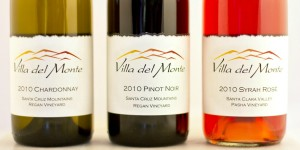 Three bottles of Villa del Monte Wine