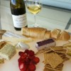 Villa del Monte wine and cheese