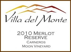 Villa del Monte 2010 Merlot Reserve Carneros