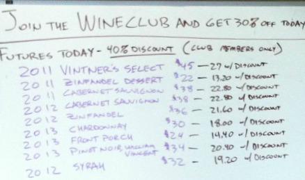 Villa del Monte Winery Futures