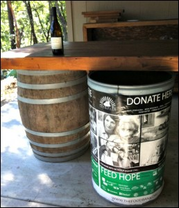 Food Barrel at Villa del Monte Winery