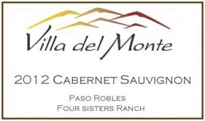 2012 Villa del Monte Cabernet Paso Robles